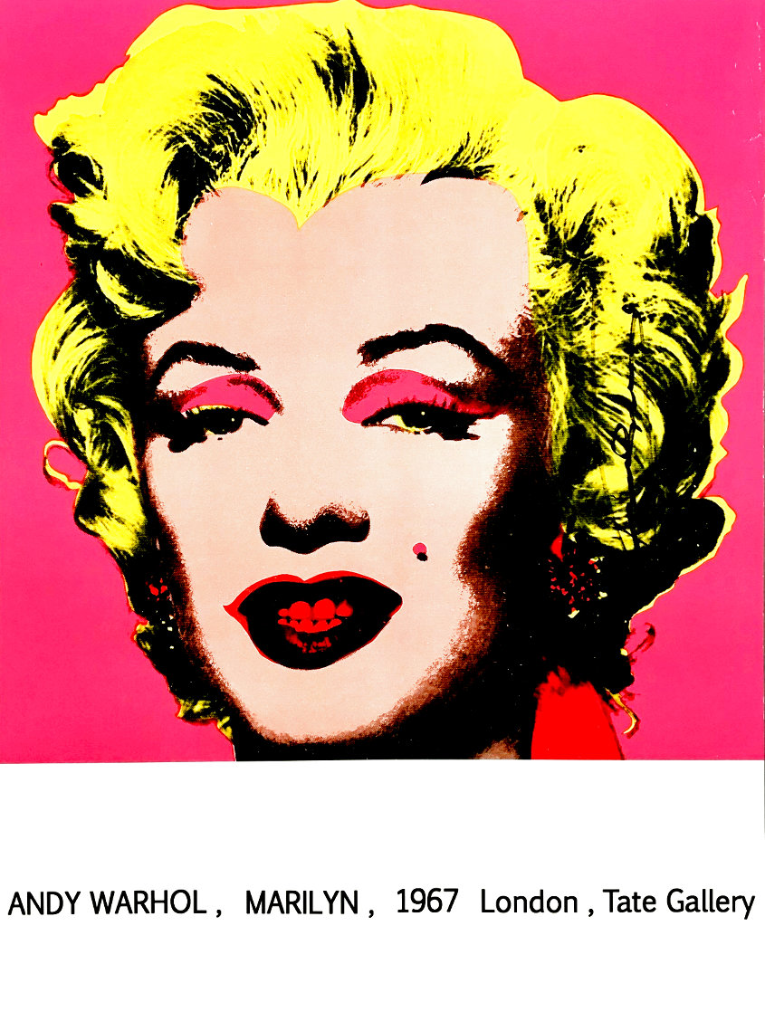 Marilyn (Tate Gallery) 1987 Hand Signed Poster Limited Edition Print by Andy Warhol