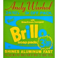Brillo Soap Pads - Pasadena Art Museum Poster 1970 Limited Edition Print by Andy Warhol - 1