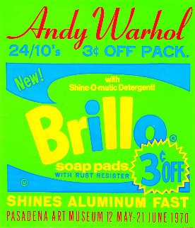 Brillo Soap Pads - Pasadena Art Museum Poster 1970 Limited Edition Print - Andy Warhol