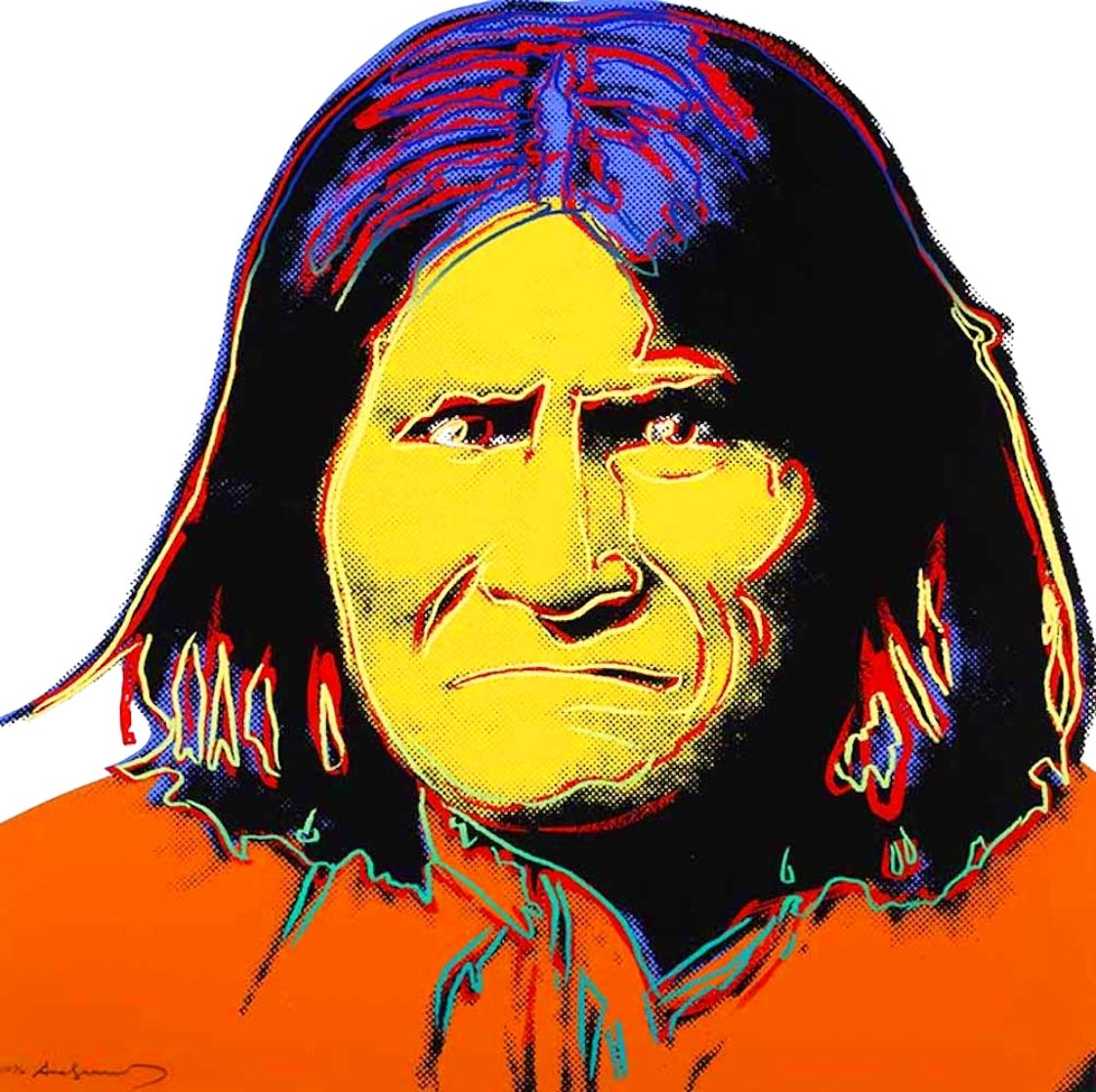 Geronimo, From Cowboys And Indians 1986 Limited Edition Print by Andy Warhol