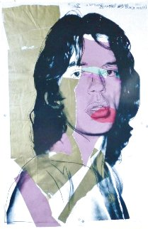 Mick Jagger Poster Limited Edition Print - Andy Warhol