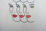 Womens' Faces Watercolor 1960 8x8 Watercolor by Andy Warhol - 2