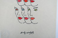 Womens' Faces Watercolor 1960 8x8 Watercolor by Andy Warhol - 3