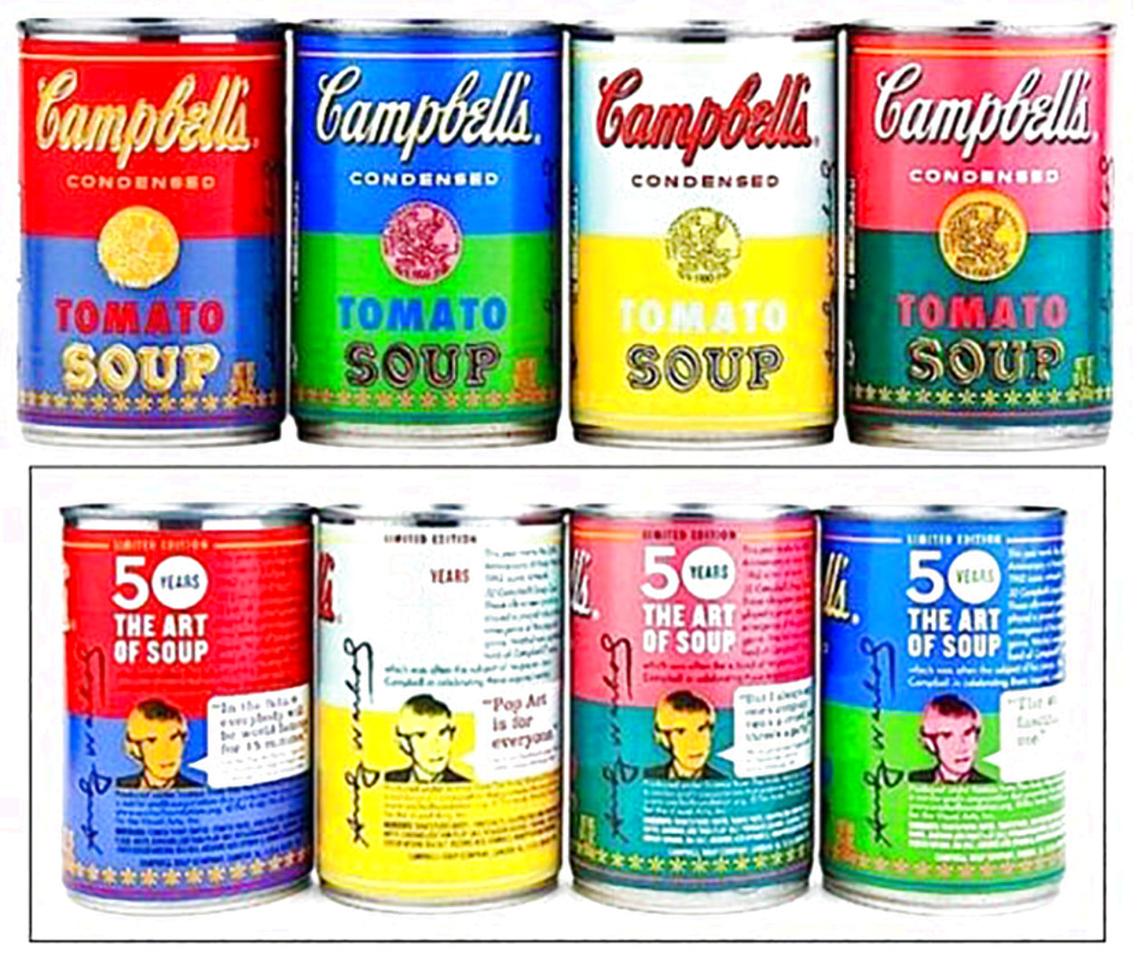 50th Anniversary 4 Campbell's Soup Can 2004 Limited Edition Print by Andy Warhol