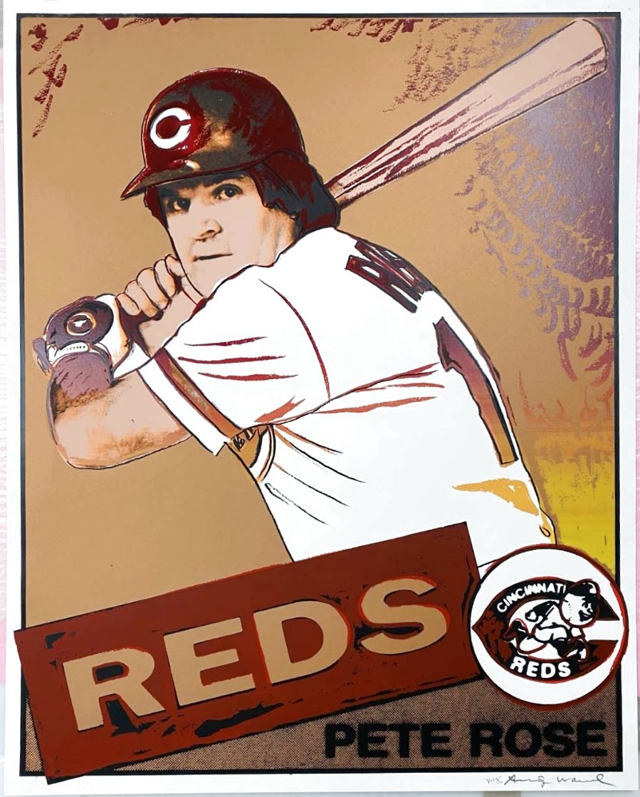 Pete Rose Trial Proof HS Limited Edition Print by Andy Warhol