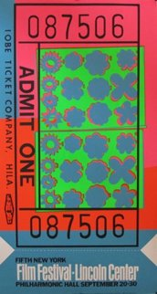 Lincoln Center Ticket II.19  1967 Limited Edition Print by Andy Warhol