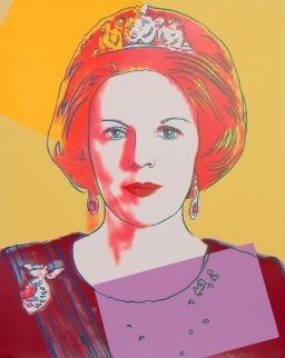 Queens: Queen Beatrix of the Netherlands AP  ( II.341) 1985 Limited Edition Print by Andy Warhol