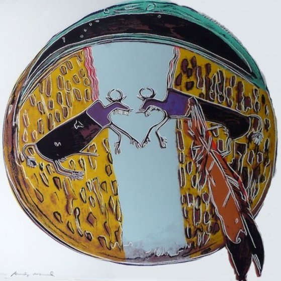 Cowboys: Plains Indian Shield FS II.382 1986 Limited Edition Print by Andy Warhol