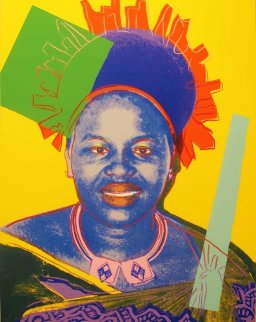 Queens: Queen Ntombi Twala of Swaziland II.348, 1985 Limited Edition Print by Andy Warhol