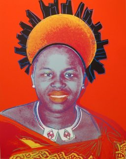 Queens: Queen Ntombi Twala of Swaziland II.349, 1985 Limited Edition Print by Andy Warhol