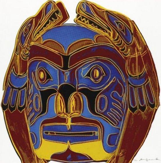 Cowboys: Northwest Coast Mask FS Ii.380 1986 Limited Edition Print by Andy Warhol