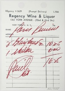Paris Review 1967 Limited Edition Print by Andy Warhol