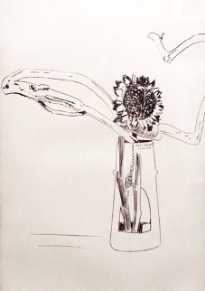 Flowers FS II.102 (Black And White) 1974 Limited Edition Print - Andy Warhol