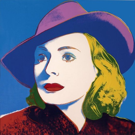 Ingrid Bergman - With Hat Fs II.194 AP 1983 Limited Edition Print by Andy Warhol