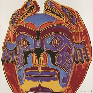 Cowboys: Northwest Coast Mask FS II.380 1986 Limited Edition Print - Andy Warhol