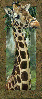 Curious Giraffe I and II   2005 46x20 Original Painting by Val  Warner - 1