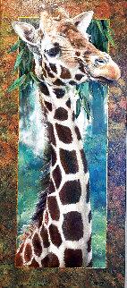 Curious Giraffe No. 1 AP Huge Limited Edition Print - Val  Warner