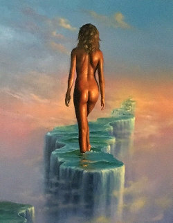 Dream Walker 2003 32x30 Original Painting - Jim Warren