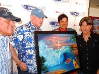 Beach Boys 50th Anniversary 2010  - Rare - Embellished Limited Edition Print by Jim Warren - 1