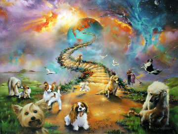 Visiting the Rainbow Bridge 2016 Limited Edition Print by Jim Warren