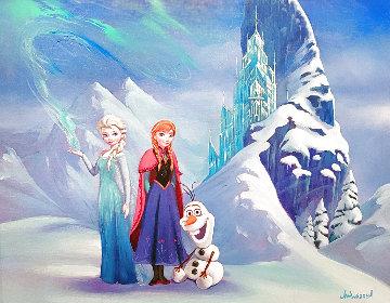 Untitled Painting 2014 30x34 Frozen  Original Painting - Jim Warren