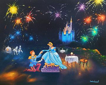 Proposal of Cinderella 2014 30x34 Original Painting - Jim Warren