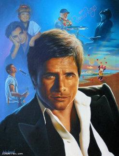 John Stamos Portrait 2010 Original Painting - Jim Warren