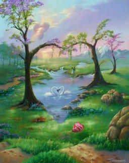 Seven Hearts 24x30 Original Painting - Jim Warren