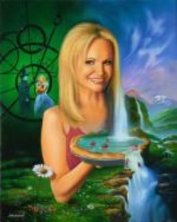 Kristin Chenoweth 2010 28x22 Original Painting - Jim Warren