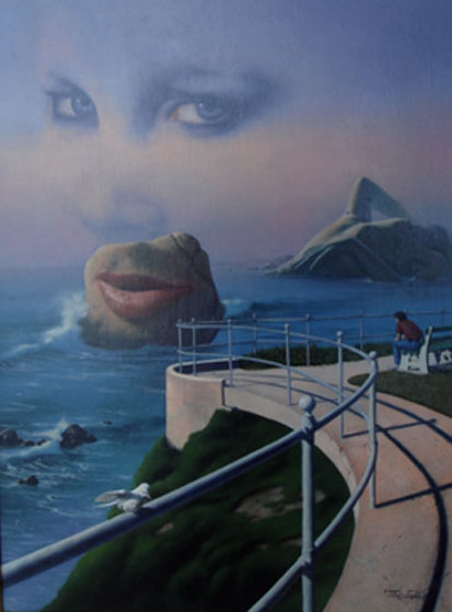 She's on My Mind 1985 24x18 Original Painting by Jim Warren