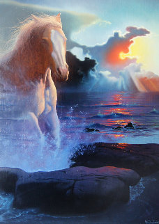 Wild Spirit 1985 33x26 Original Painting by Jim Warren