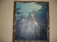 Untitled Horses 1980 24x20 Original Painting by Jim Warren - 2