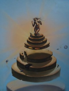 Untitled Painting  1984 26x32 Original Painting by Jim Warren