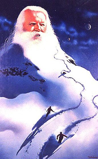 Snowman 1982 24x34 Original Painting by Jim Warren