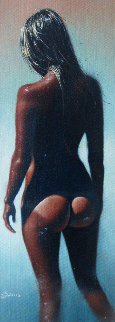 Island Girl 1975 24x12 Original Painting - Jim Warren