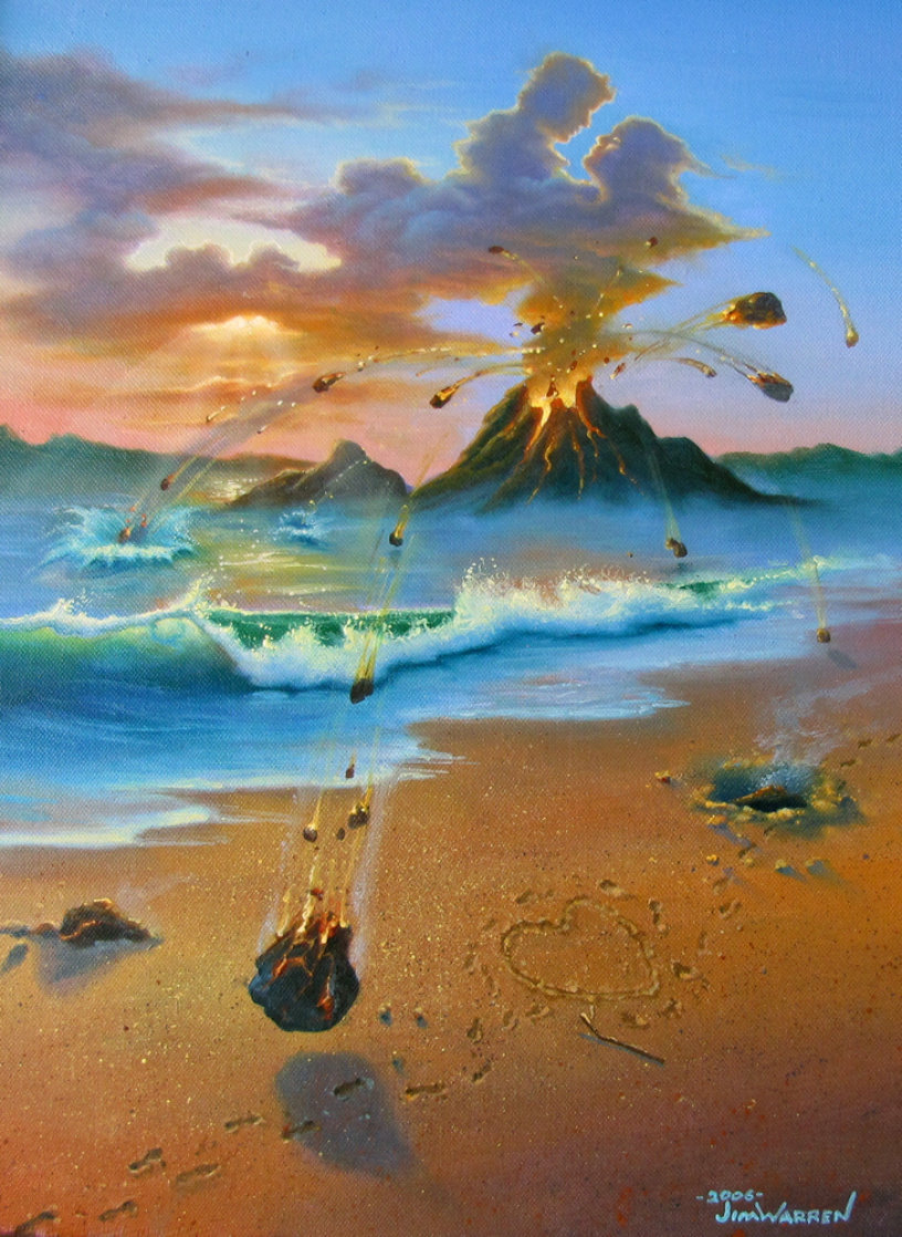Love Conquers All 2006 23x26 Original Painting by Jim Warren