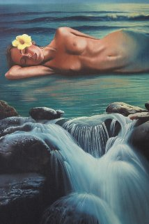 Dreamer 1981 34x28 Original Painting - Jim Warren