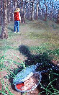 In the Woods 1988 22x16 Original Painting by Jim Warren