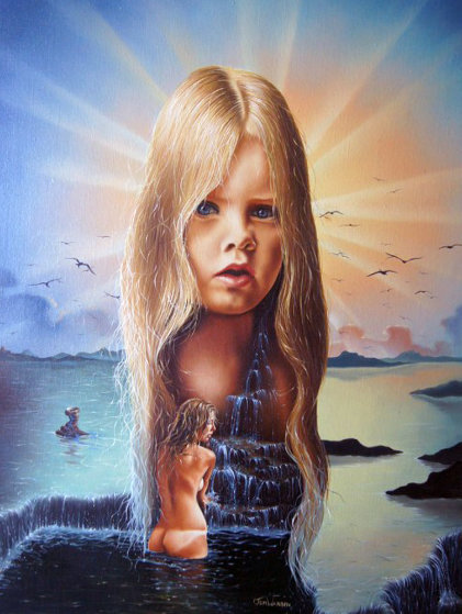 Mother Earth's Child  1981 26x32 Original Painting by Jim Warren