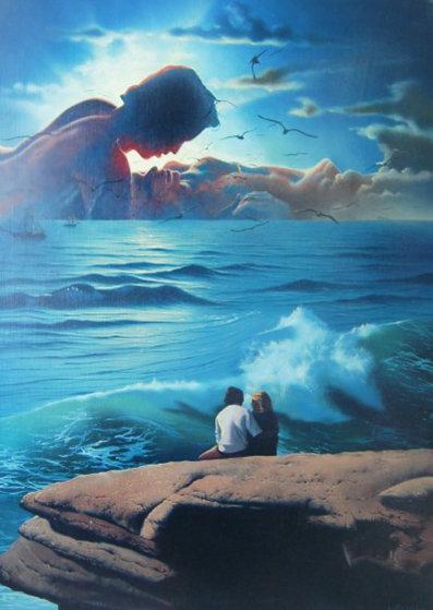On a Romantic Day 1982 30x36 by Jim Warren