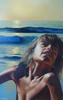 All Summer Long 1979 26x36 Original Painting - Jim Warren