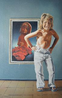 First Love 1978 30x20 Original Painting by Jim Warren