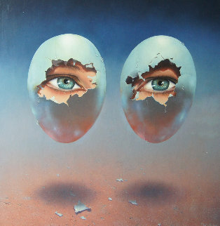 Birth Dream 1981 24x24 Original Painting - Jim Warren