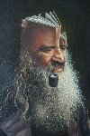 Wise Man 1978 32x26 Original Painting - Jim Warren