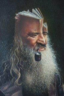 Wise Man 1978 32x26 Original Painting by Jim Warren