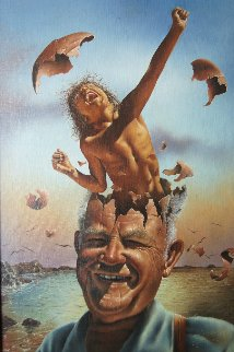 Second Childhood 1976 24x34 Original Painting by Jim Warren