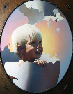 Rebirth 1980 26x32 Original Painting - Jim Warren