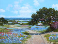 Road to the Blue Bonnet Original Painting - W.A. Slaughter