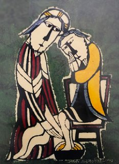 Washing the Disciple's Feet 1993 Limited Edition Print - Sadao Watanabe