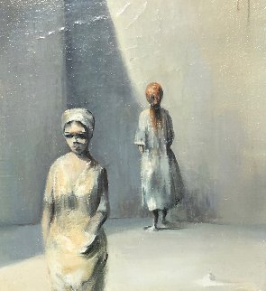 Silence 1990 14x17 Original Painting - Robert Watson